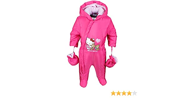 Hello Kitty Baby Schneeanzug mit Handschuhe M/ädchen