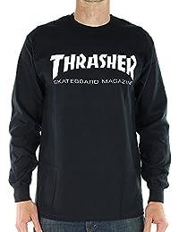 Thrasher - Camiseta de manga larga - Negro