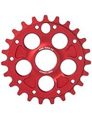 RMD Bike Co. | ALPHA plateau / couronne BMX MTB Dirt | 23T 25T 28T | Noir et Rouge | Fabriqué en Pologne |
