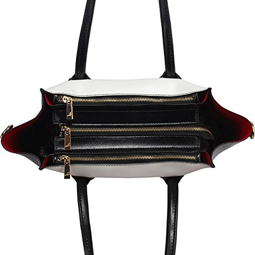 LeahWard® Groß Damen Tragetaschen nett Groß Marke Handtaschen Handgepäck Kabine Gym Reise Arbeit Tasche Zum Damen61 Schwarz/Weiß B