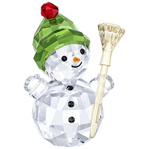 Swarovski snowman with broom stick, cristalli, 6.2x 4x 3.2cm,