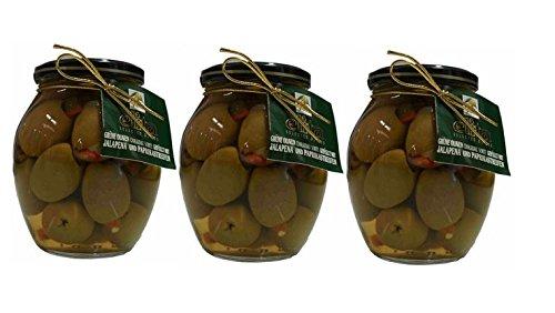 3x-oliven-grun-gefullt-mit-jalapeno-und-paprika-je-360g-glas-215g-abtropfgewicht-aus-griechenland-gr
