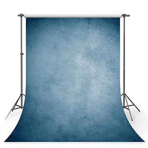 WaW 3x3m Studio Hintergrund Fotografie Blau Fotohintergrund Stoff Kulisse für Porträt