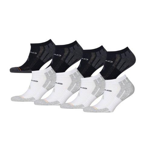 HEAD Unisex Performance Sneaker 741017001 Sportsocken 8er Pack 4x black 4x white, Größe:39-42;Farbe:4x black 4x white