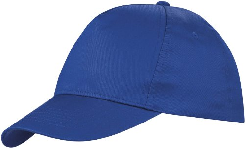us-basic-5-panel-childrens-baseball-cap-hat-13-colours-royal-blue