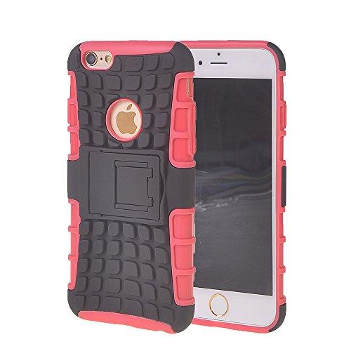 iPhone 6 Plus H¨¹lle,COOLKE [Rose] Sto?fest Doppelschutz Heavy Duty Schutzh¨¹lle mit St?nder Cover Case f¨¹r Apple iPhone 6 Plus (5.5 inch) Rose