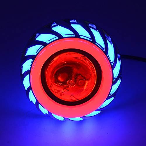 W.S.-YUE Motorrad LED-Scheinwerfer-Motor-Scheinwerfer-Birnen-wasserdichte treibende Lampen mit den Engels-Augen beleuchtet 1200LM 30W Mehrfarbenbeleuchtung wahlweise freigestellt (Color : C)
