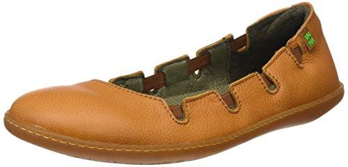 El Naturalista N5272 Soft Grain Viajero, Chaussures avec Plateforme Femme Orange (Carrot)