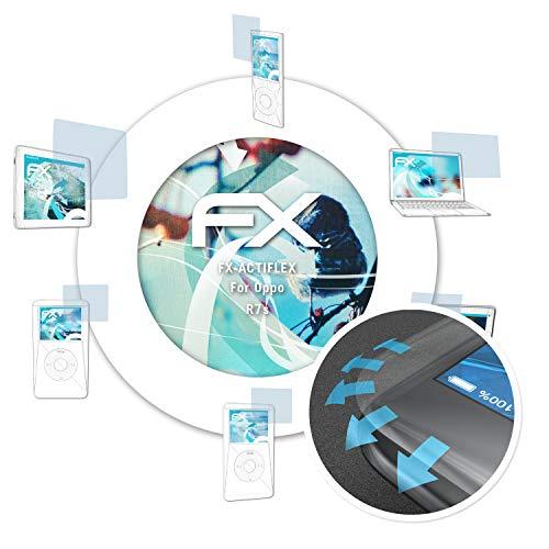 atFolix Schutzfolie passend für Oppo R7s Folie, ultraklare & Flexible FX Bildschirmschutzfolie (3X)