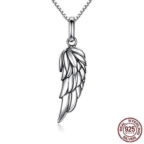 MTWTM Sterling Silber Halskette Engel Männlich Weiblich Flügel Valentinstag Schmuck Geschenk