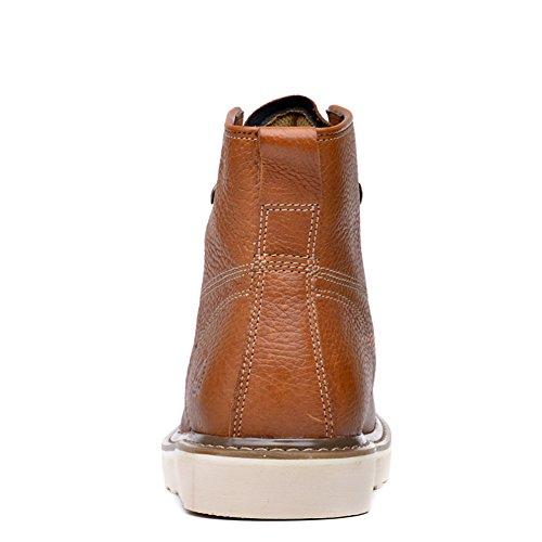 Insun Herren Stiefel Winter Boots Winterstiefel Schuhe Gelb braun