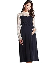 Maternity and Nursing Classic Baptism Long Sleeve Dress
