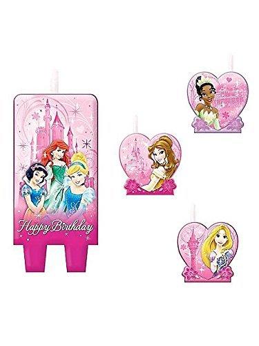 Disney Princess 4 teiliges Kerzenset - Happy Birthday Candle Set