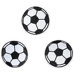 3pcs palla pallone da calcio toppe toppa per bambini jeans abbigliamento bambini Sew on Jacket zaino sciarpa applique DIY Craft