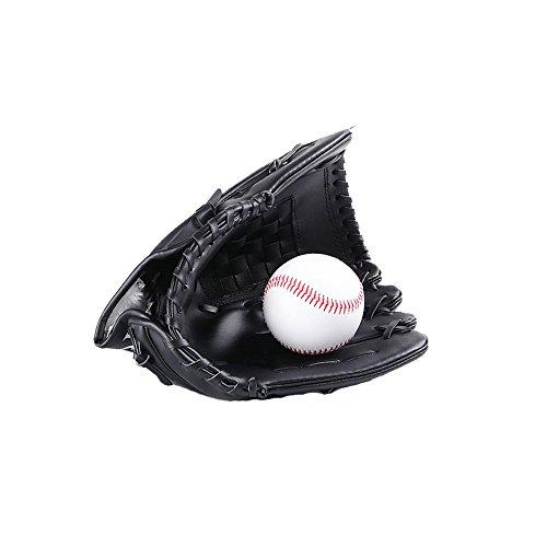 Baseball Gloves Baseball Gloves Adult/Juvenile Wild Baseball Gloves Softball Gloves (L, Schwarz) (Baseball-handschuh Schwarze)