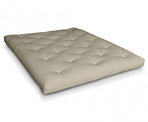 Futon Naoko Baumwollfuton Futonmatratze mit 6x Baumwolle von Futononline, Größe:140 x 200 cm, Color Futon SE Amazon:Leinen/Filz weiß