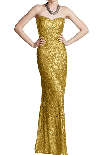 Victory Bridal Modern Glitzer Pailletten Abendkleider Partykleider  Promkleider Trumpet Bodenlang Damenmode Neuheit Gold 4ff2053e54