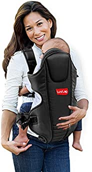 LuvLap Galaxy Baby Carrier with Padded Head support, for 6 to 36 months baby, Max weight Up to 15 Kgs (Black)