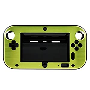 OSTENT Anti-Schock Hard Aluminium Metall Box Cover Case Shell kompatibel für Nintendo Wii U Gamepad Farbe Grün