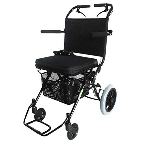 Rollatoren Rollstuhl Tragbare Reise Rollstuhl Faltende Leichte Ältere Behinderte Walker Ultraleichte Tragbare Gewicht 8,8 Kg Lager Gewicht 100 Kg Geschenk Für Ältere Menschen -
