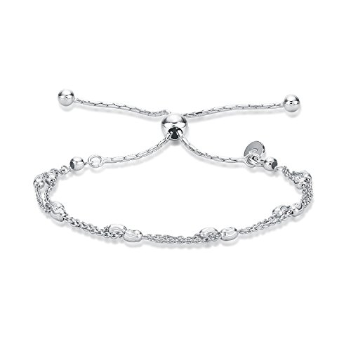 Fashion Jewelry 100% Quality Silver Bracelet Chain Ladies Gift Girl Womens Bling Bracelet Jewellery Gw Crease-Resistance