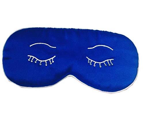 Mou soie cache oeil/cache oeil pour dormir, Yeux bleus