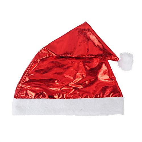 ODJOY-FAN 1PCS Weihnachtsmütze Weihnachten Party Hüte Weihnachtsmann Hut Rot Blau Deckel Zum Claus Kostüm Neu Caps Unisex Santa Hat Casual Caps (38cm×27cm) (Rot,1 ()
