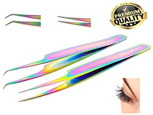 Pinzas rectas curvadas extensiones pestañas individuales