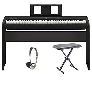 yamaha p45 digital piano pro bundle musical instruments. Black Bedroom Furniture Sets. Home Design Ideas
