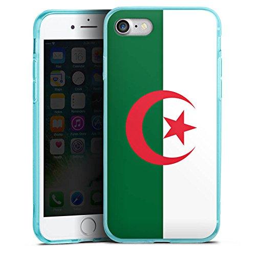 Apple iPhone 7 Silikon Hülle Case Schutzhülle Algerien Flagge Fußball Silikon Colour Case eisblau