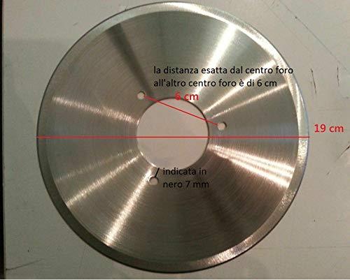 lama ricambio in acciaio inox diametro 19cm x affettatrice diametro foro 5cm...