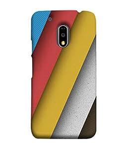 PrintVisa Designer Back Case Cover for Moto E3 Power :: Motorola Moto E3 Power (Broad Stripes In Different Colours)