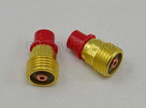 45 V43 m 5/162,6 cm 2.0 mm Objectif gaz Collet Corps, TIG de soudure Lampe torche 9 20 24 25 série, 20 cm