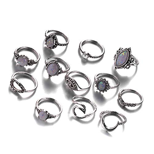 Fliyeong Premium 12 stücke Boho Frauen Knuckle Ring Fingerspitze Ringe Set Punk Style