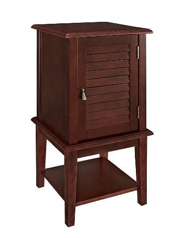 Powell Furniture Shutter Door Table, Red