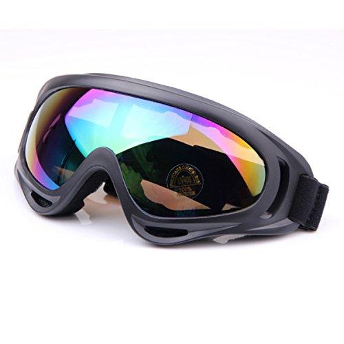 Butterme Außen Jagd Radfahren Skifahren Airsoft X400 Winddicht Staubdicht Schutz taktisch Brille Motorrad Glas Bunt (Gläser Taktische)