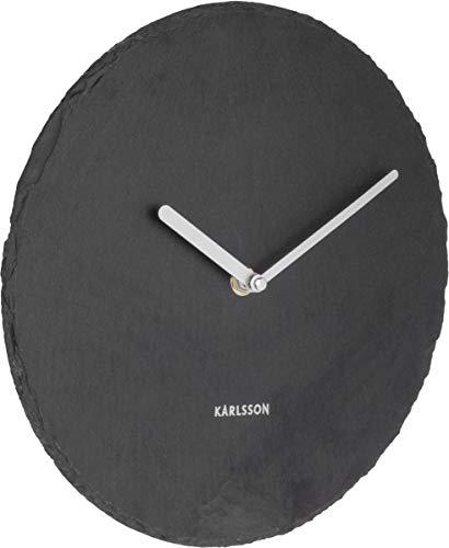 Karlsson Slate Uhr, Wanduhr, Schiefer, Schwarz, One Size