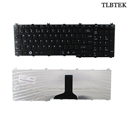 TLBTEK Teclado de repuesto para portátil Toshiba Satellite Pro B350 T350 C650 C655 C650D C665D C670D C675D L650 L655 L655D L670 L670D L675 L675D L750 L750D L755 L755D L770 L770D L775 L775D L770(C650)