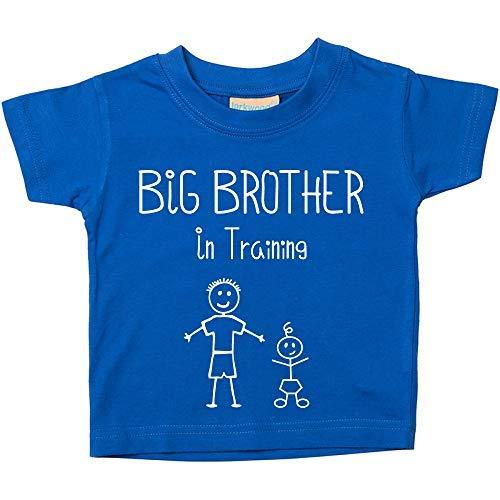 Großer Bruder in Training Blau T-Shirt Baby Kleinkind Kinder Erhältlich in Größen von 0-6 Monate bis 14-15 Jahre Neu Baby Bruder Geschenk - Blau, Blau, 3-4 Years -