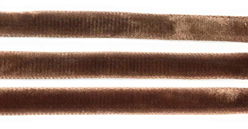 Gewebte Satin Ribbon Trim (Seiden-Samtband mit Satin-Rückseite, 0,9 cm, hergestellt in der Schweiz)