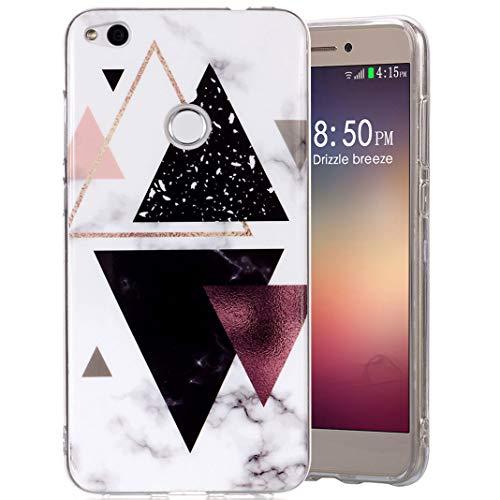 Amcor Love Schutzhülle Huawei P8 Lite 2017 Marmor, Schutzhülle Huawei P8/P9 Lite 2017, Silikon, TPU mit Marmor-Motiv, kreativ, Schutzhülle für Huawei P8 Lite/P9 Lite 2017