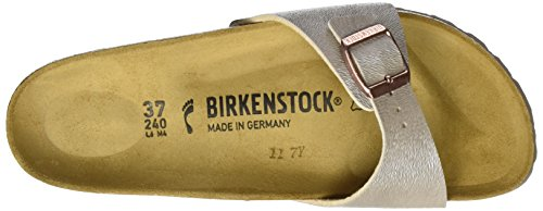 Birkenstock - Madrid Birko-flor, Pantofole Donna Beige (Animal Fascination Mud)