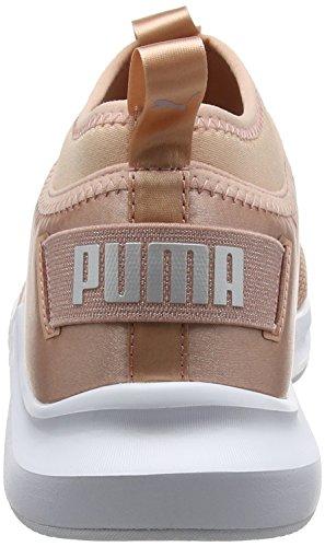 Puma Damen Phenom Low Satin EP Wn's Cross-Trainer Outdoor Fitnessschuhe Beige (Peach Beige-Puma White)