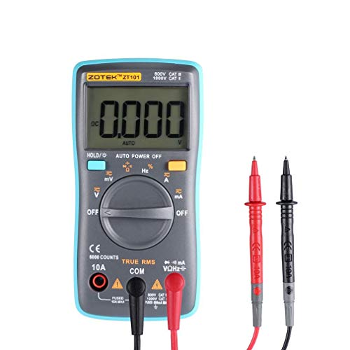Digital Multimeter, w-unique zangenstrommeter-Digital-Vielfachmessgerät Multi Tester, Messbereich Ohm/HZ/Temp/Duty Cycle AC/DC Tester mit Hintergrundbeleuchtung Duty-cycle-multimeter