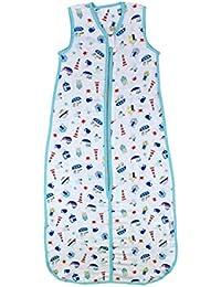 Schlummersack Babyschlafsack Bambus-Musselin ungefüttert für den Sommer in 0.5 Tog - in verschiedenen Größen und Designs erhältlich
