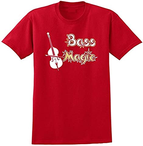 Double Bass Magic - Red Rouge T Shirt Taille 87cm 36in Small MusicaliTee