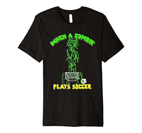 Wenn ein Zombie spielt Fußball T-Shirt Trick Or Treat