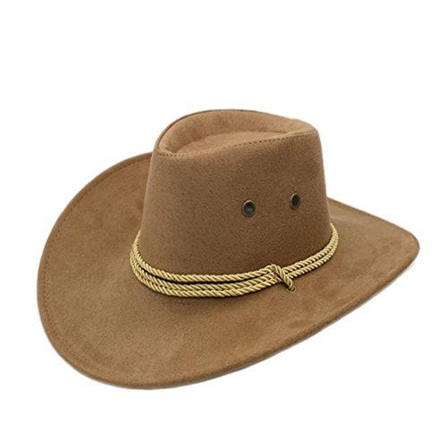 (Sommer Outdoor-Hüte/Cowboy-Hut/ Männliche und weibliche Jazzhut/ Reitkappe/Visier/Strohhut/Großer Strand Hüte-A One Size)