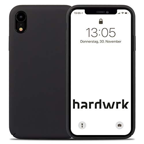 hardwrk Premium Silikon Case - kompatibel mit Apple iPhone XR - schwarz - Elegante Schutzhülle Handyhülle Cover Hülle Black - Unterstützt kabelloses Laden - Qi - Wireless Charging Black Premium Silikon Cover