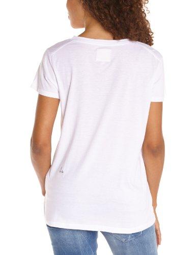 Eleven Paris - Maglietta, collo a v, manica corta, donna, Bianco (Weiß (M99 : WHITE M99 : WHITE)), Small